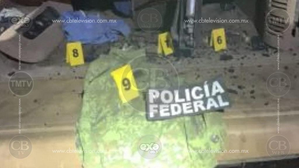 """Gatilleros abandonan camioneta luego de atacar a balazos a federales en la """"Siglo XXI"""""""