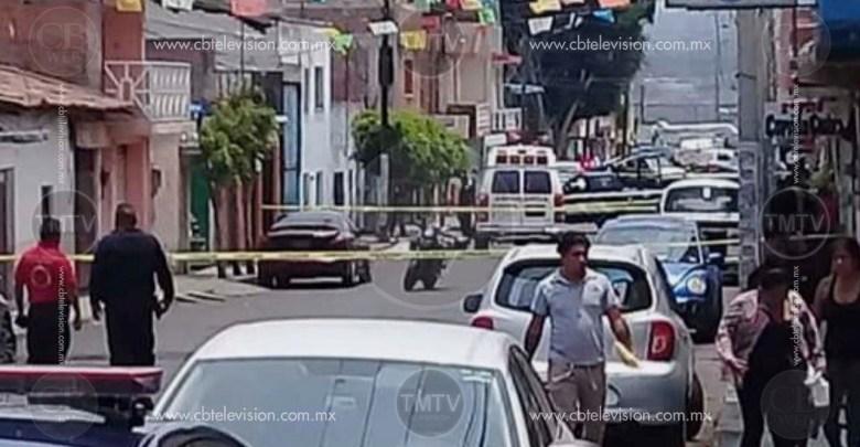 Albañil es asesinado frente a sus dos hijos, los acababa de recoger de la escuela