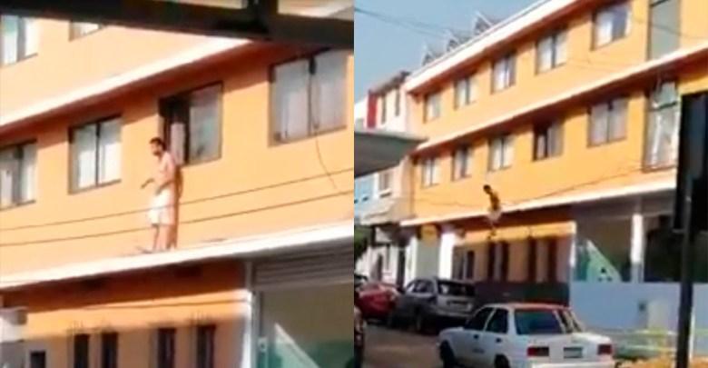 Video: Mientras tomaba el sol joven cae de un hotel en Zitácuaro