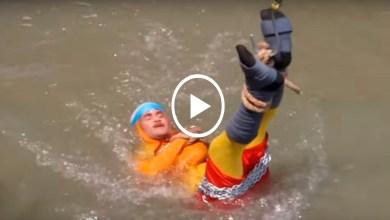 Video: Acto de escapismo termina en tragedia; mago desaparece en el río