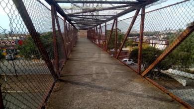Puente de CU en pésimas condiciones