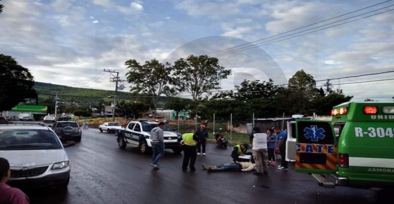 Repartidor de tortillas queda herido tras percance vial