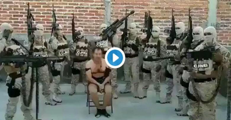 """Video: """"Vamos por ti, mugroso Marro""""; CJNG capturan a """"El Michoacano"""" y lo asesinan"""