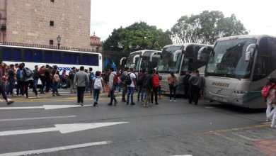 Photo of Normalistas nuevamente se manifiestan en Morelia