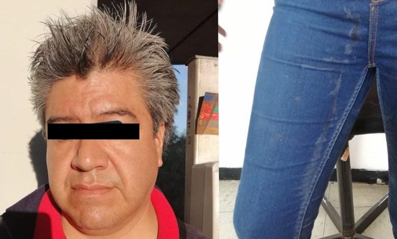 Joven de 19 años exhibe a hombre que eyaculó sobre su pantalón