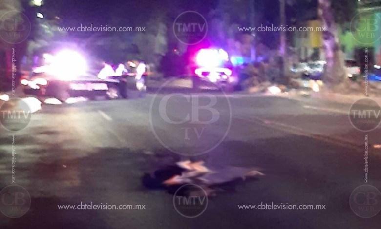 Patrulla atropella y mata un hombre en Madero Poniente