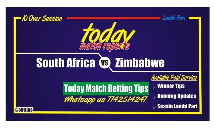 Cricket Betting Tips Free Zimbabwe vs South Africa 2nd ODI Match