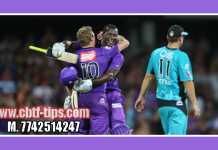 Brisbane vs Hobbart BBL 2018-19 5th Match Reports Toss Lambi Pari BRH vs HBH