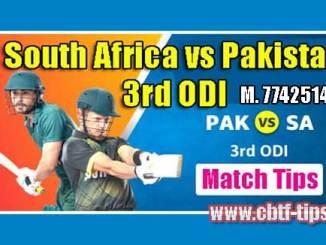 3rd ODI Match Reports RSA vs PAK Toss Lambi Pari Session Tips