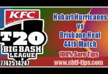 BBL T20 44th Hobart vs Brisbane 100% Sure Win Tips Non Cutting