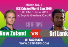 World Cup 2019 NZL vs SL 3rd Match Prediction & Betting Tips