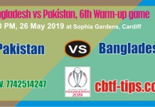 PAK vs BAN Warm UP CWC19 Match Prediction & Betting Tips