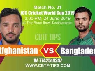 World Cup 2019 Ban vs Afg 31st Match Reports Betting Tips