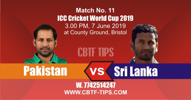 World Cup 2019 PAK vs SL 11th Match Reports Betting Tips
