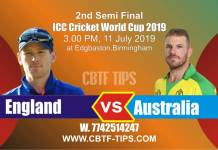 World Cup 2019 Eng vs Aus 2nd Semi Final Match Reports Betting Tips