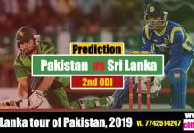 Betting Tips SL vs Pak 2nd Odi predict match for today Reports Session