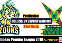 CPL 2019 Cricket Betting Tips SLZ vs GAW 22nd Match Who will win today's Sure Reports Toss Session Lambi Pari