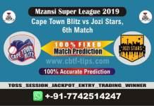 CTB vs JOZ 6th Mzansi Super League Match Reports Cricket Betting Tips