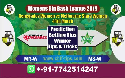 MR-W vs MS-W 44th Womens Big Bash League 2019 Match Reports Cricket Betting Tips