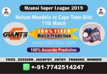 NMG vs CTB 11th Mzansi 2019 Match Reports Cricket Betting Tips