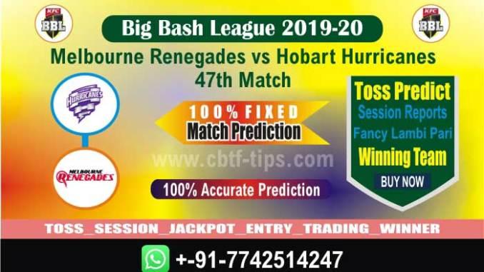 Betting Tips Big Bash MLR vs HBH 47th