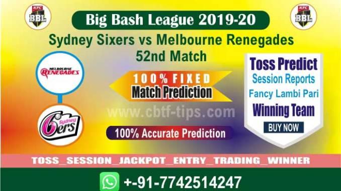 Betting Tips Big Bash MLR vs SYS 52nd