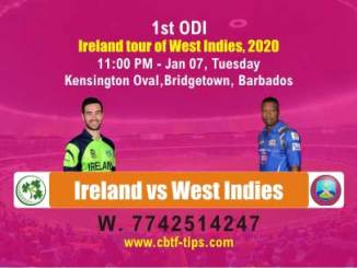IRE vs WI Ireland tour of West Indies 2020 1st ODI Match Betting Tips Sure