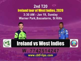 cbtf IRE vs WI match prediction