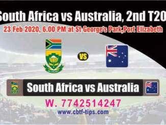 SA vs Aus 2nd International T20 Sure Prediction Betting Tips CBTF Toss