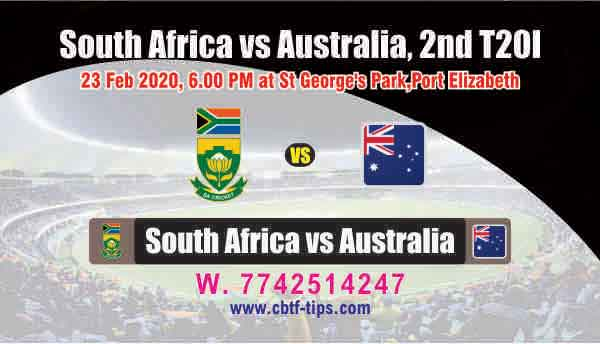 SA vs Aus 2nd International T20 Sure Prediction Betting Tips CBTF Toss