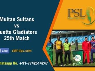 QUE vs MUL 25th PSL T20 Sure Winner Prediction CBTF