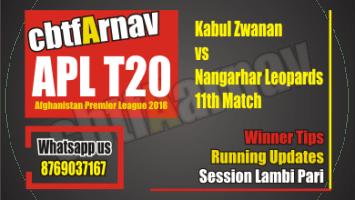 Kabul Zwanan vs Nangarhar Leopards, 11th Match