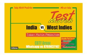 Today Match Reports India vs West Indies 1st Test