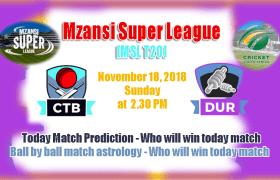 Durban Heat vs Cape Town Blitz MSL 2018 3rd Match CBTF Tips