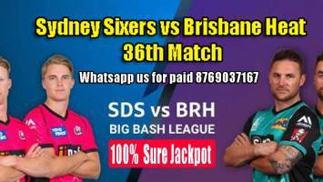BRH vs SYS BBL 36th Match Prediction SYS vs BRH Toss Lambi Tips
