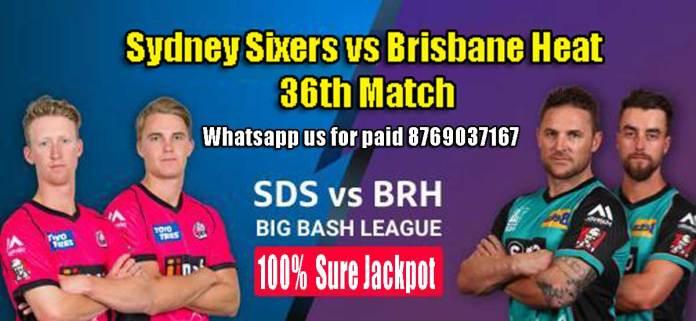 BRH vs SYS BBL 36th Match Prediction SYS vs BRH Toss Lambi Tips