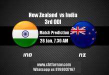 NZL vs IND 3rd ODI Match Prediction IND vs NZL Toss Pari Tips