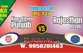 Today IPL Prediction Match No 32nd KXIP vs RR 100% Sure Tips