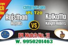 Today IPL Match Prediction Rajasthan vs Kolkatta 21st 100% Sure Toss Lambi Pari