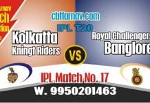 Today IPL Match Prediction KKR vs RCB 17th 100% Sure Toss Lambi Pari