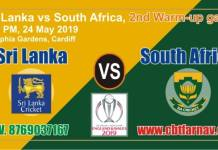World Cup 2019 RSA vs SL Warm Up Match Prediction Win Tips Toss