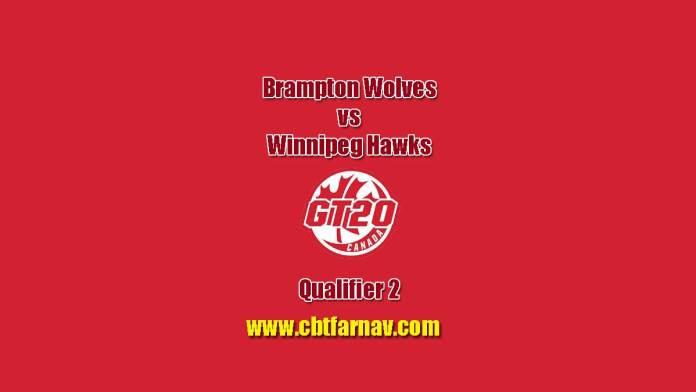 Global 20 Canada Brampton vs Winnipeg Qulifier 2 Match Report Today