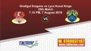 TNPL 2019 LYC vs DIN 25thth Match Report Today Toss Lambi Pari