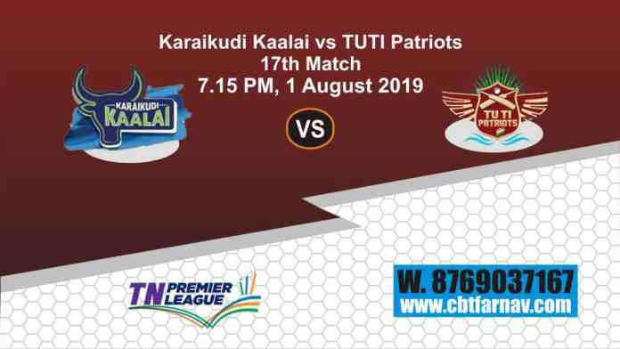 TNPL 2019 KAR vs TUT 17th Match Report Today Toss Lambi Pari