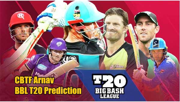 BBL T20 Match Prediction Tips - Big Bash League 2019-20