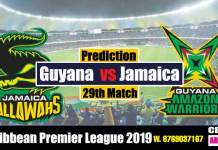 CPL 2019 Jamaica vs Guyana 29th Match Prediction Today Toss Session Lambi Pari CBTF biz Tips