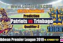 Trinbago vs Barbados Qualifier 2 CPL 2019 Today Match Prediction Cricket Betting Tips