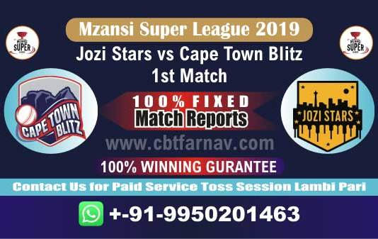 JOZ vs CTB 1st MSL T20 2019 Today Match Prediction Cricket Betting Tips