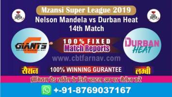 Match Prediction Reports Durban vs Nelson 14th Mzansi 2019 Betting Tips