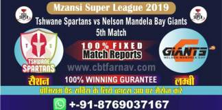 Mzansi 2019 NMG vs TS 5th Today Match Prediction MSLT20 Betting Tips